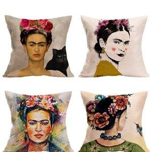 "Frida Kahlo 18x18 art accent ""pillow case""ONLY"